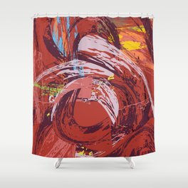 Red Bang Shower Curtain
