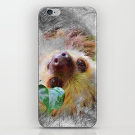 Artistic Animal Sloth iPhone Skin