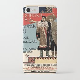 Czechoslav ethnographic exposition vintage ad iPhone Case