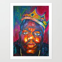 biggie smalls Art Prints featuring BIGGIE SMALLS by Molly Forster