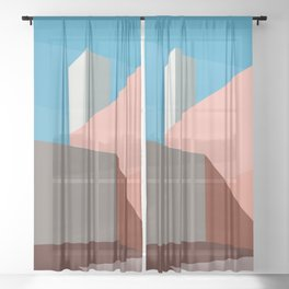 Coral space Sheer Curtain