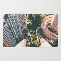 daredevil Area & Throw Rugs featuring Sitting Way Atop the City by Limitless Design