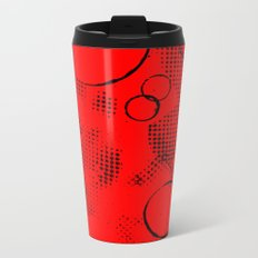 Painted Texture #26 Augmented in Red Metal Travel Mug