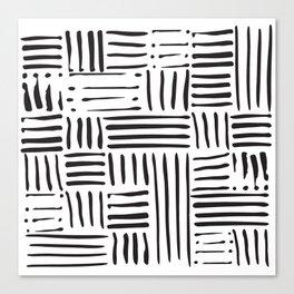 Weave in Black Canvas Print