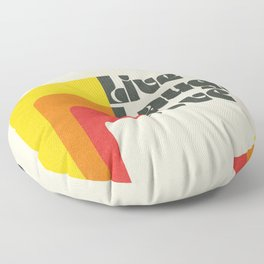 Live Laugh Love 70s Vibes Floor Pillow