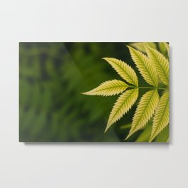 Plant Patterns - Leafy Greens Metal Print