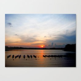 Sunset before the Race Canvas Print
