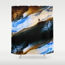 Vision of fire and ice Shower Curtain
