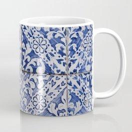 Moroccan blue tiles photography, bohemian, indian style Coffee Mug