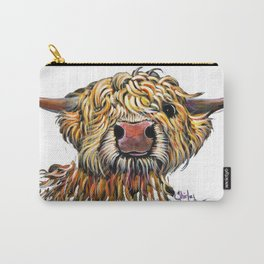 Scottish Highland Cow ' POPEYE 2 ' by Shirley MacArthur Carry-All Pouch