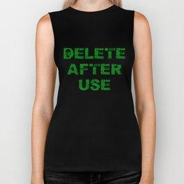 Delete after use. Biker Tank