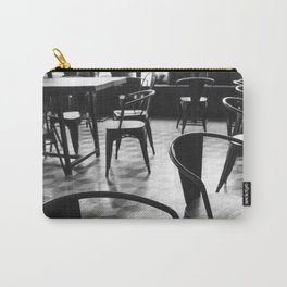 Vintage Parisian cafe - Black and white no people photography Carry-All Pouch