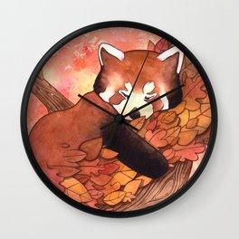 Cute Red Panda Wall Clock