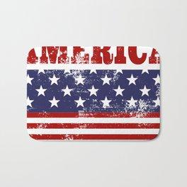America Grunge Rubber Stamp Design Bath Mat