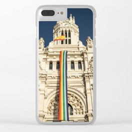 Building With LGBT Pride Flag Clear iPhone Case