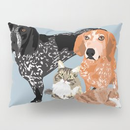 Lady, Blue, Leo and Butch Pillow Sham