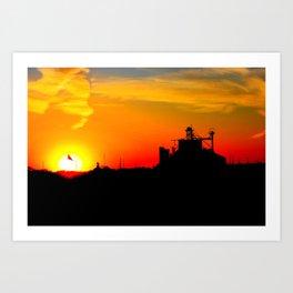 kansas sunset Art Print