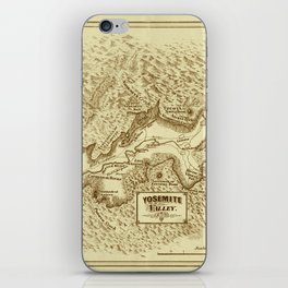 Vintage Yosemite Map 1870 iPhone Skin