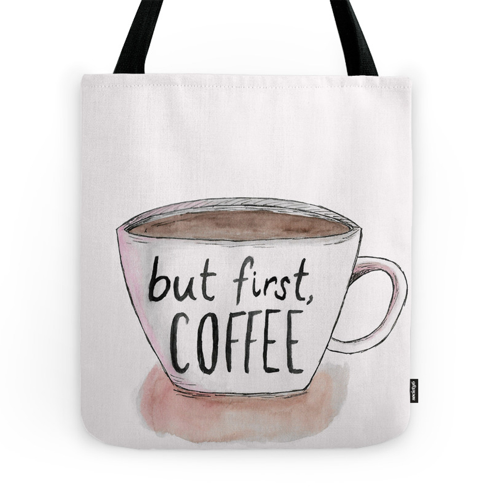 But First, Coffee Tote Purse by aishasharipzhan (TBG7458303) photo