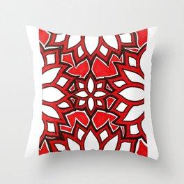 red lotus Throw Pillow