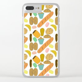 Patisseries de France French Pastries and Breads Clear iPhone Case