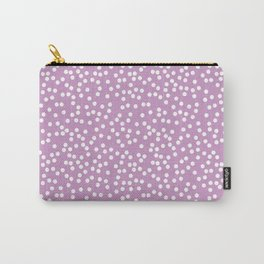 Lavender and White Polka Dot Pattern Carry-All Pouch