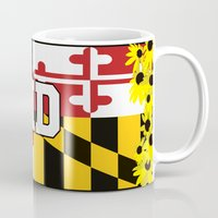 maryland Mugs featuring Maryland Pride  by BeccaBlueyes