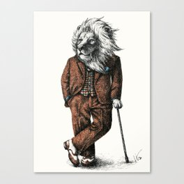 Portrait of Mr Lion Canvas Print