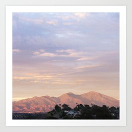 Sunset over Saddleback Mountain Art Print