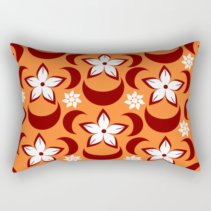 Orange floral fantasy Rectangular Pillow
