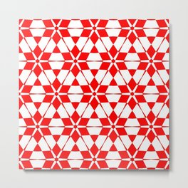 red white red pattern GOA Metal Print
