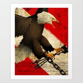 Clash Over War Art Print