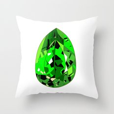 GEMS - green , expensive look , luxury and shine Throw Pillow