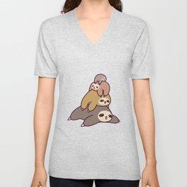 Sloth Stack Unisex V-Neck