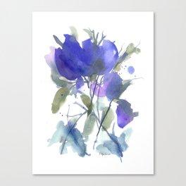 Bluest Blue Bloom Canvas Print