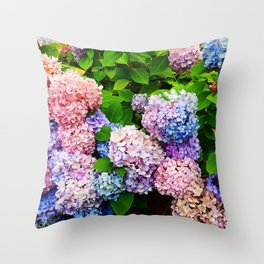 Bouquet of Colors Throw Pillow