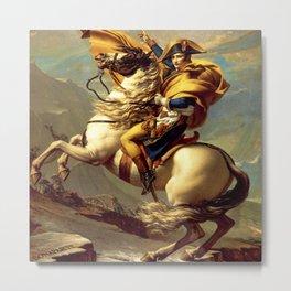 "Jacques-Louis David ""Napoleon crossing the Alps"" Metal Print"