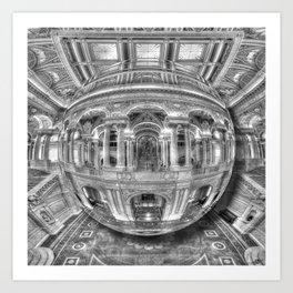Ode To MC Escher Library of Congress Orb Art Print