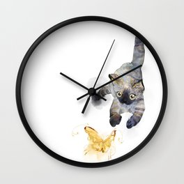 Golden hunt Wall Clock