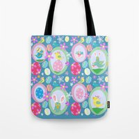 easter Tote Bags featuring Easter  by Art Tree Designs