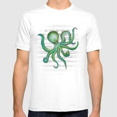 Green Octopus Mens Fitted Tee MEDIUM White
