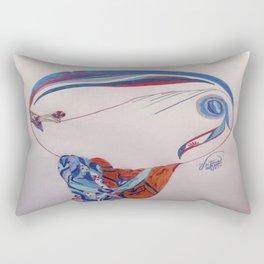 Erte Inspired Fashion Print Rectangular Pillow