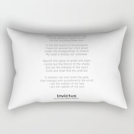 Invictus by William Ernest Henley #minimalist #poem Rectangular Pillow