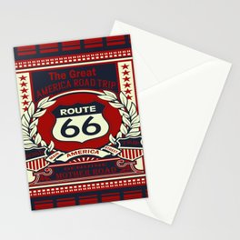 Route 66 the great  america road trip Stationery Cards