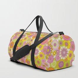 Thrifted Linen Rose Duffle Bag