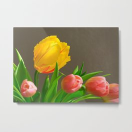 Spring Bouquet with French and Dutch Tulips Metal Print