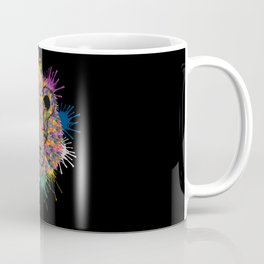 Lion Face Color Splashes Coffee Mug