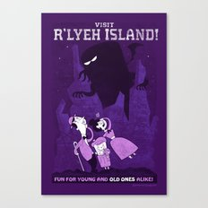 Lovecraftian Amusement Park #1: R'lyeh Island Canvas Print