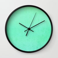 emerald Wall Clocks featuring EMERALD by colorstudio