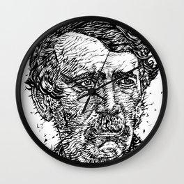 DAVID LIVINGSTONE ink portrait Wall Clock